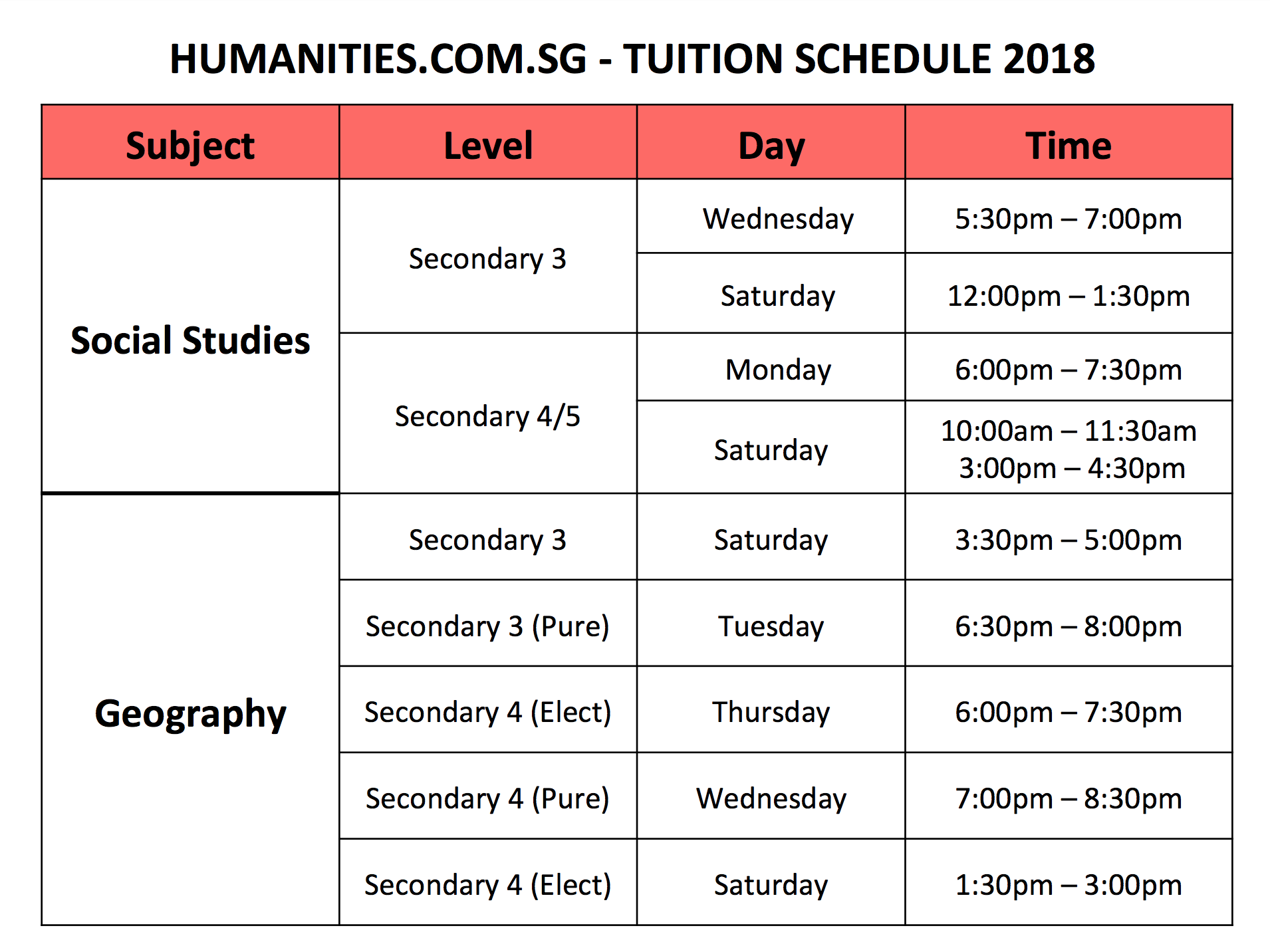 Social-Studies-Geography-2018-Timetable